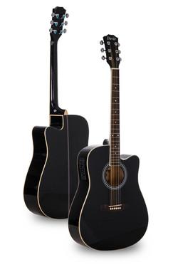 Davis Musical Instruments- DA108-BK-EQ4@