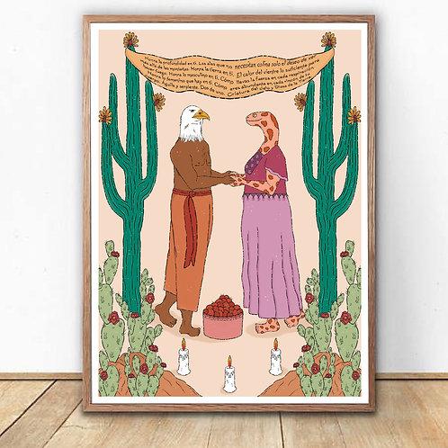 """Padre Aguila, Madre Serpiente"" Art Print"