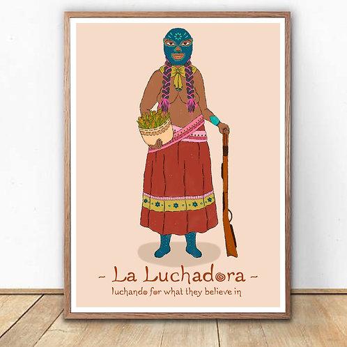 """""""La Luchadora"""" Art Print"""