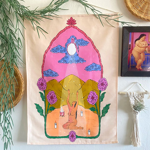 """""""Moon Light Guide Me""""Wall Tapestry"""