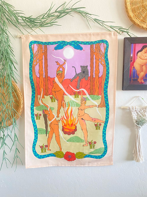 """""""Moon Dance"""" Wall Tapestry"""