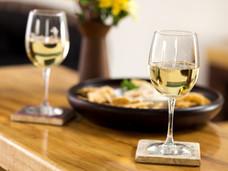 Glasses of White Wine @ Weathered Vineyards Ephrata