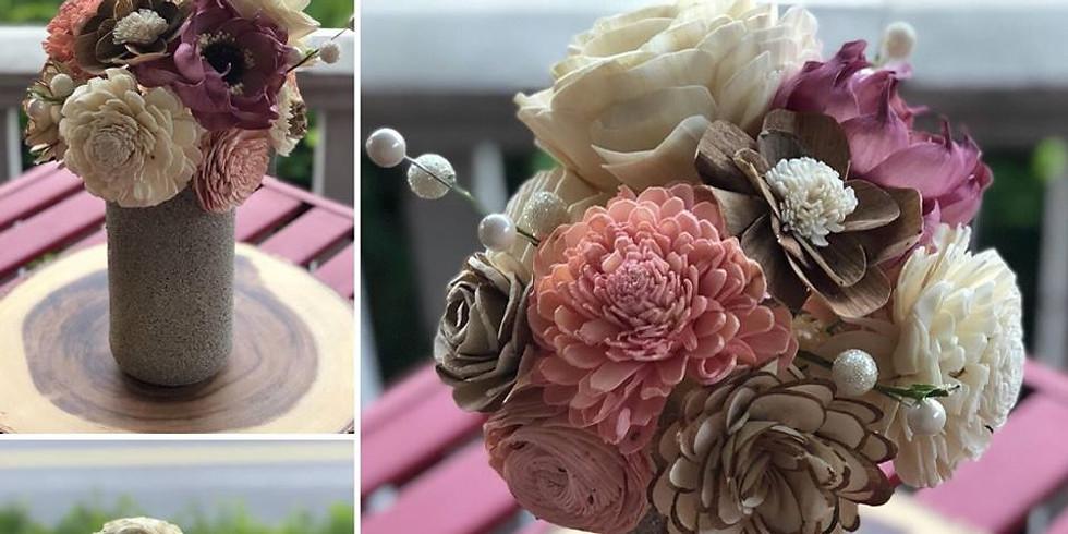 Sola Wood Flower Mason Jar