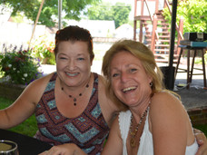 Friends sharing wine in Lancaster County PA