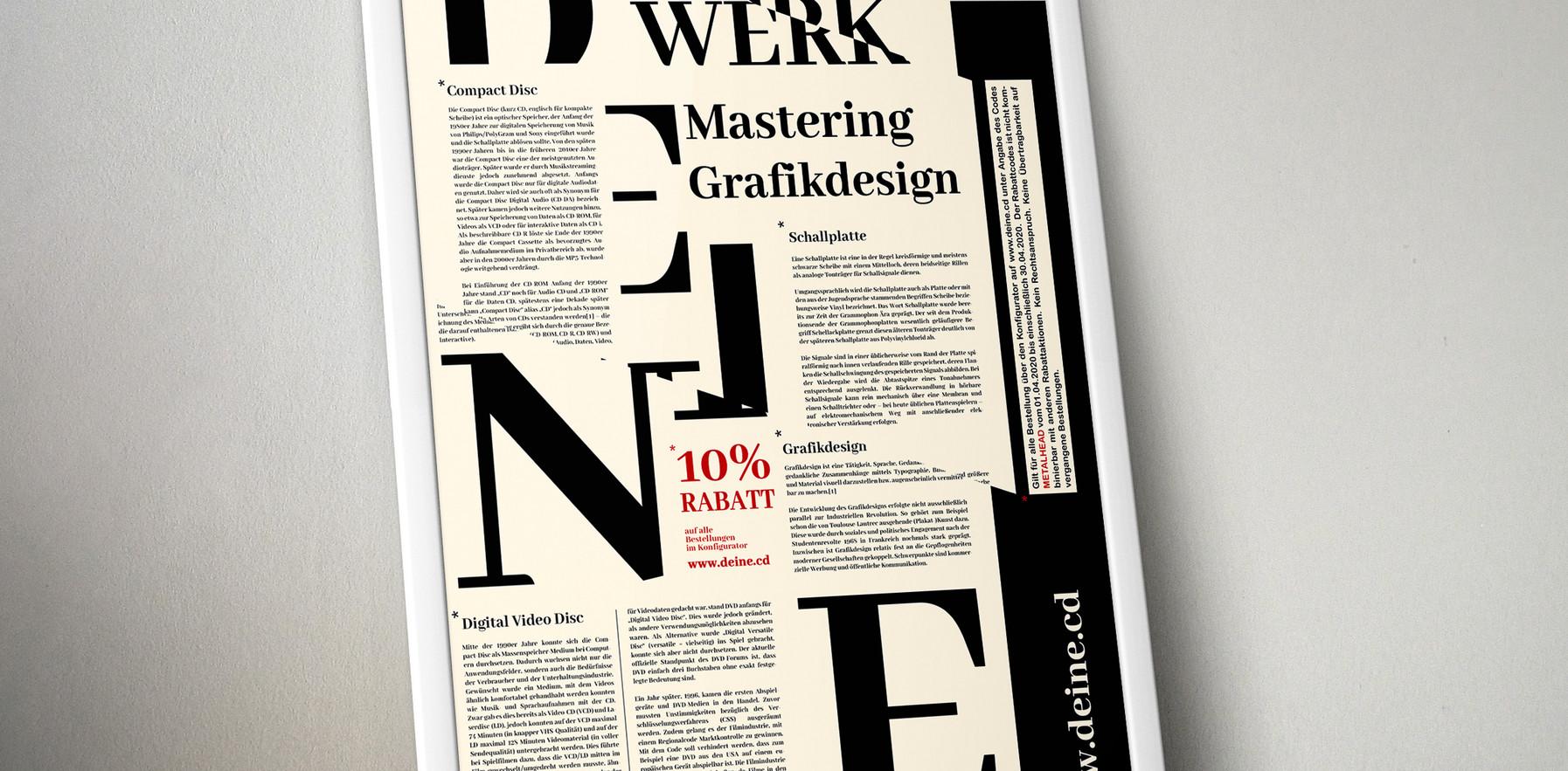 Artwork/Printdesign/Anzeige für DEINE.CD