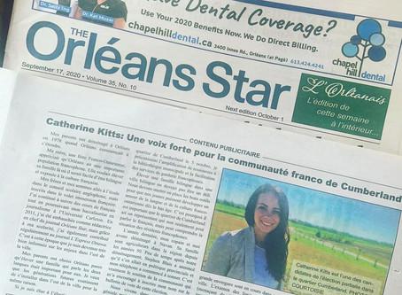 [L'Orléanais] Catherine Kitts: Une voix forte pour la communauté franco de Cumberland