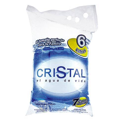 AGUA CRISTAL BOLSA X 6 LTS