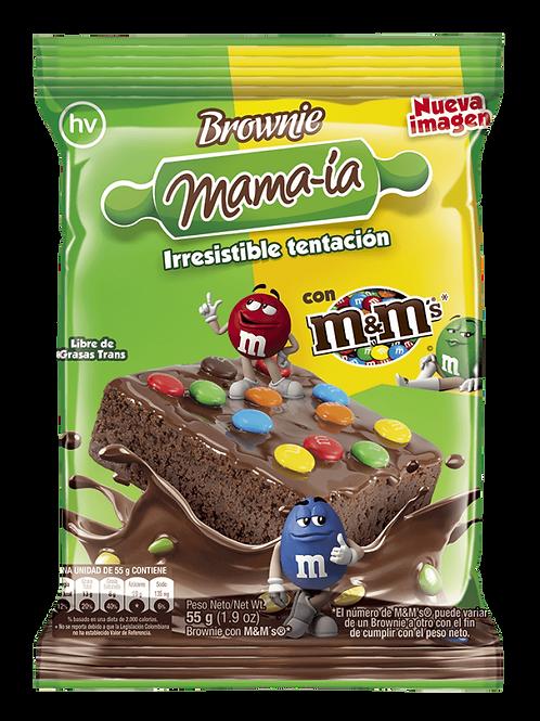 BROWNIE MAMA-IA CON M&M X 55 GR