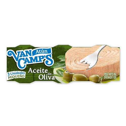 ATUN VAN CAMPS AC.OLIVA 3 X 80 GR
