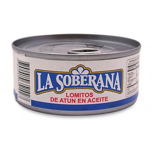 ATUN LA SOBERANA LOMITOS ACEITE X 170 GR