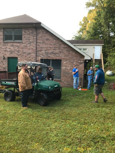 South Fork Baptist Church cleaned up the tree that had fallen on the Associational Office building