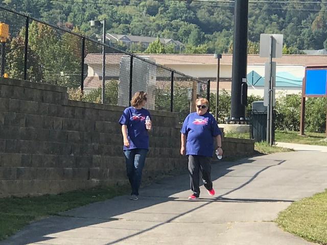 Cele Burt and Sandy Basnight prayer walked