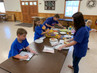 The Stony Fork Youth served lunch to the adults who had been shopping for Parkway
