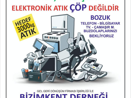 3000 Kg Elektronik Atık