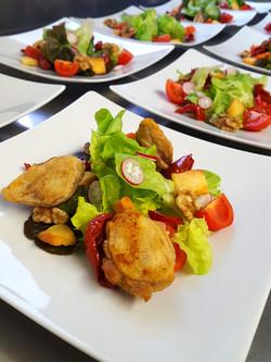 salade de filets de cailles