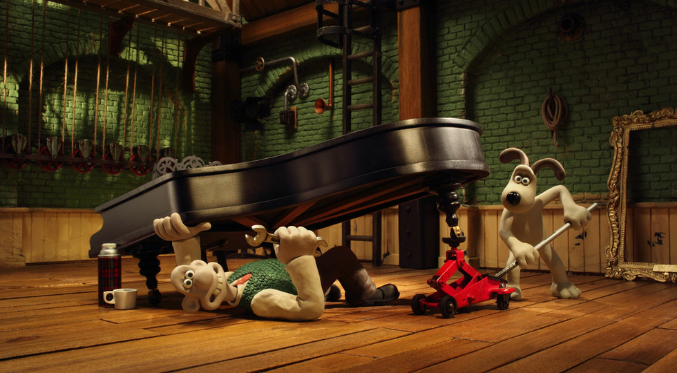 Wallace and Gromit under piano.jpg