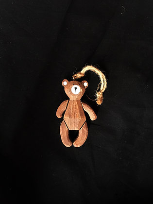 Wooden jointed Bear decoration