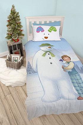 Snowman and Snowdog single duvet set