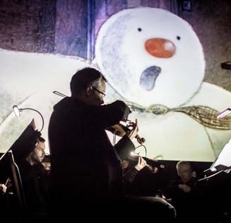 Snowman violin