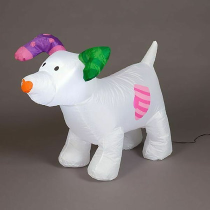 Snowdog inflatable with lights