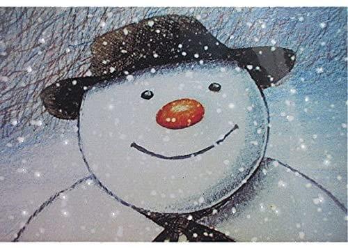 LED Snowman face canvas