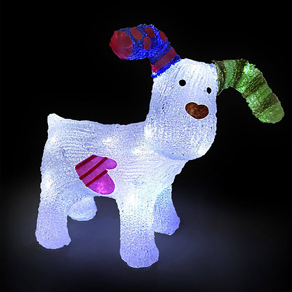 Snowdog with 24 bright LEDs