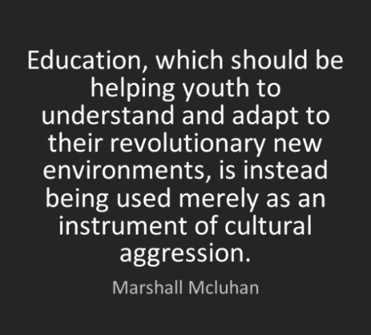 McLuhan on Education.