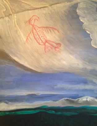 Thunderbird Over SweetGrass Hills