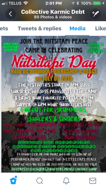 Poster for Nittsitapi Day