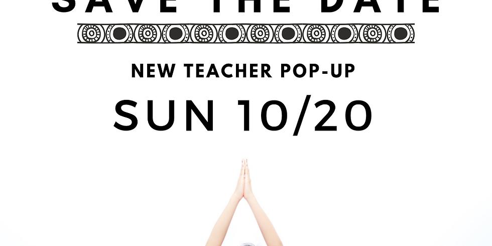 FREE CLASS- New Teacher Pop-Up