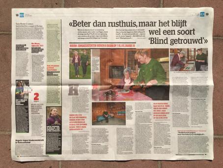 RusTThuiS vzw in Het Laatste Nieuws: Beter dan rusthuis, maar het blijft een soort 'Blind getrouwd'