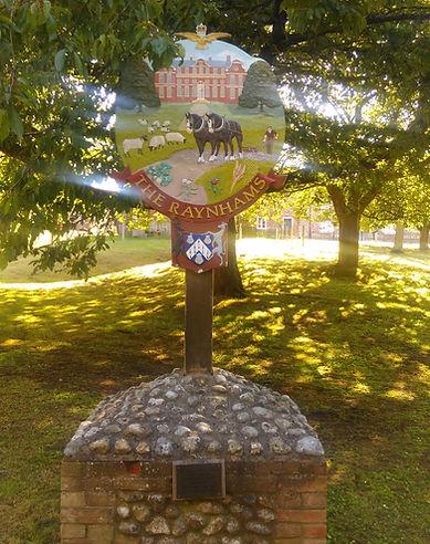 The Raynams Village Sign