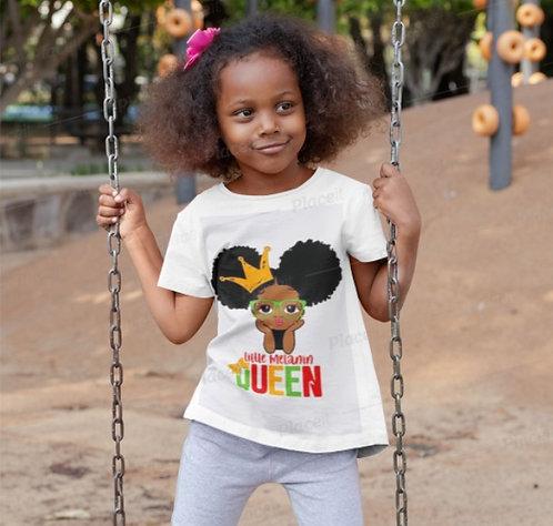 Little Melanin Queen With Crown T-Shirt