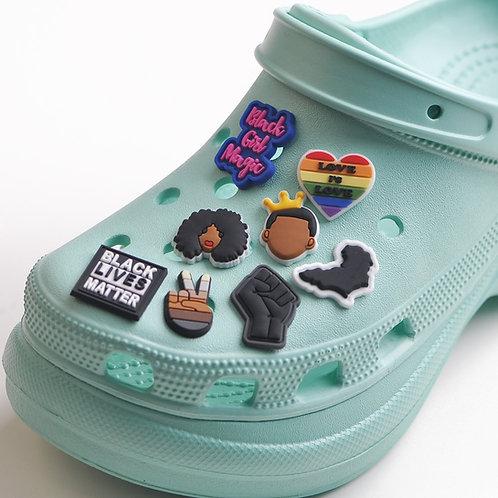 1PCS  Black Lives Matters Shoe Charms for Crocs