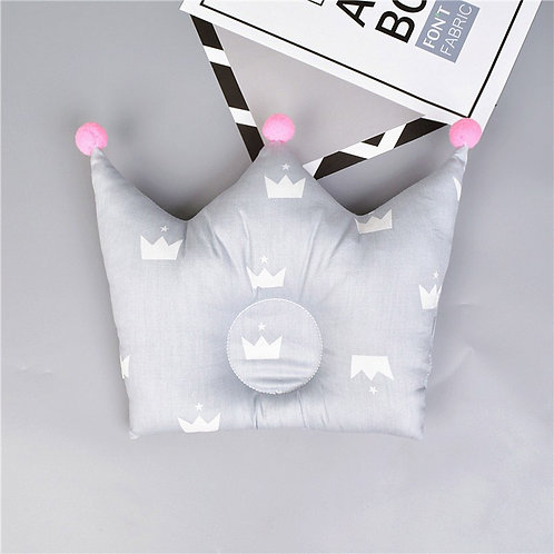 Cotton Crown With Pompom Infant Pillow Head Protection Baby Anti Roll Cushion