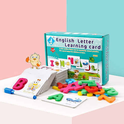 Letter Learning Card Water Drawing Card 26 Alphabet Coloring  Educational Toys