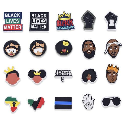 50PCS Black Lives Matter Series Shoes Charms for Croc