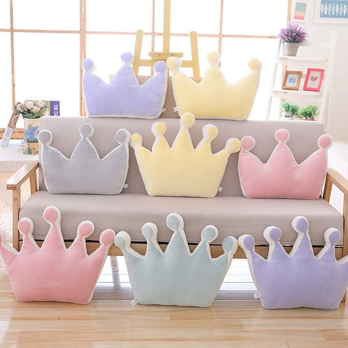 Candy Color Plush  Crown Pillow Cushion Throw Pillow Toy