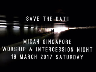 18 March: Micah Worship & Intercession Night
