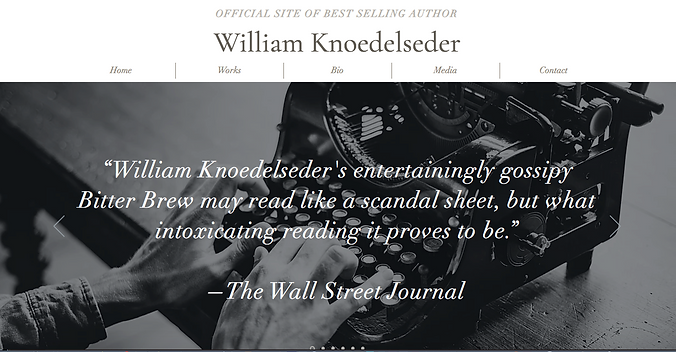 William Knoedelseder website home page