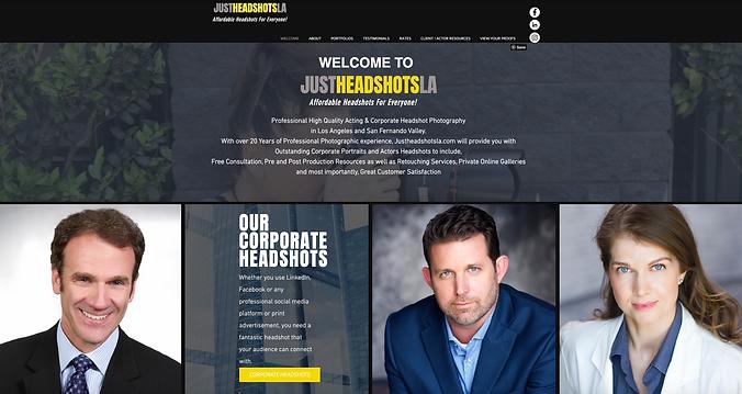 Justheadshotla home page.png