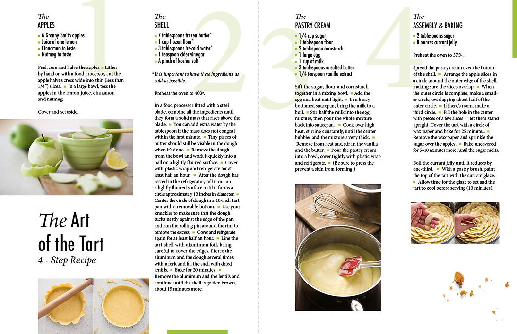 Apple Tart Recipe layout by Keshishian Kreative