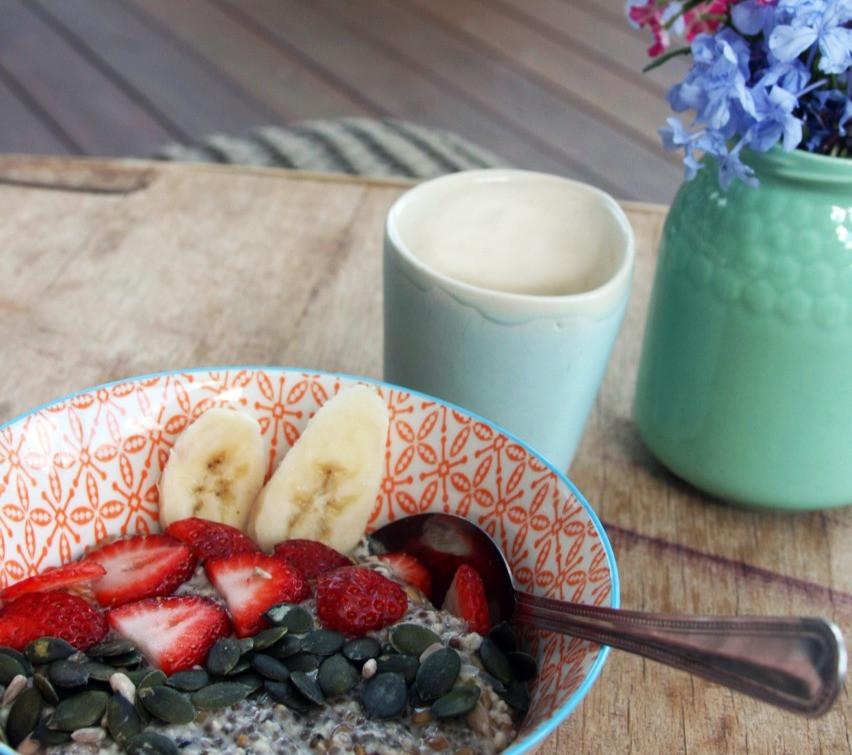 Warming three seed porridge
