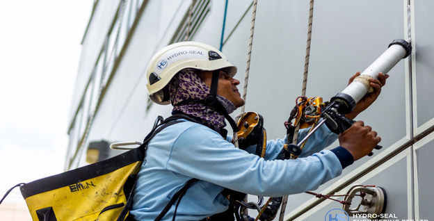 Sealant Application by Rope Access Technician