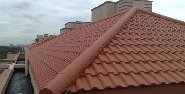 Completed Roof Tile Coating at King Albert Park