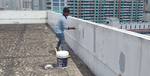 988 Toa Payoh North Roof Parapet Painting Works