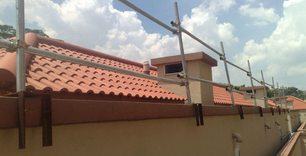 Roof Tile Coating Project at King Albert Park