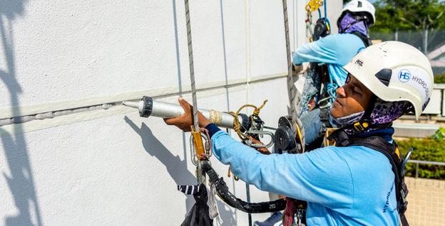External Wall Seepage Repair using Sealant