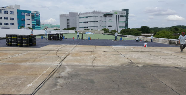 Torch-on membrane to RC Flat Roof