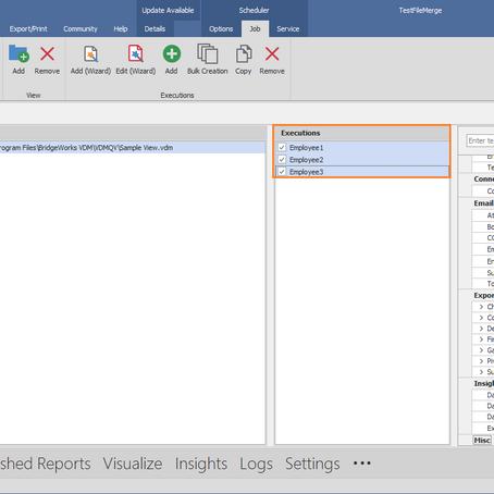 VDM Tip # 4 - Scheduler Mass Edit Executions